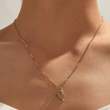 Hollow Fish Pendant Necklace