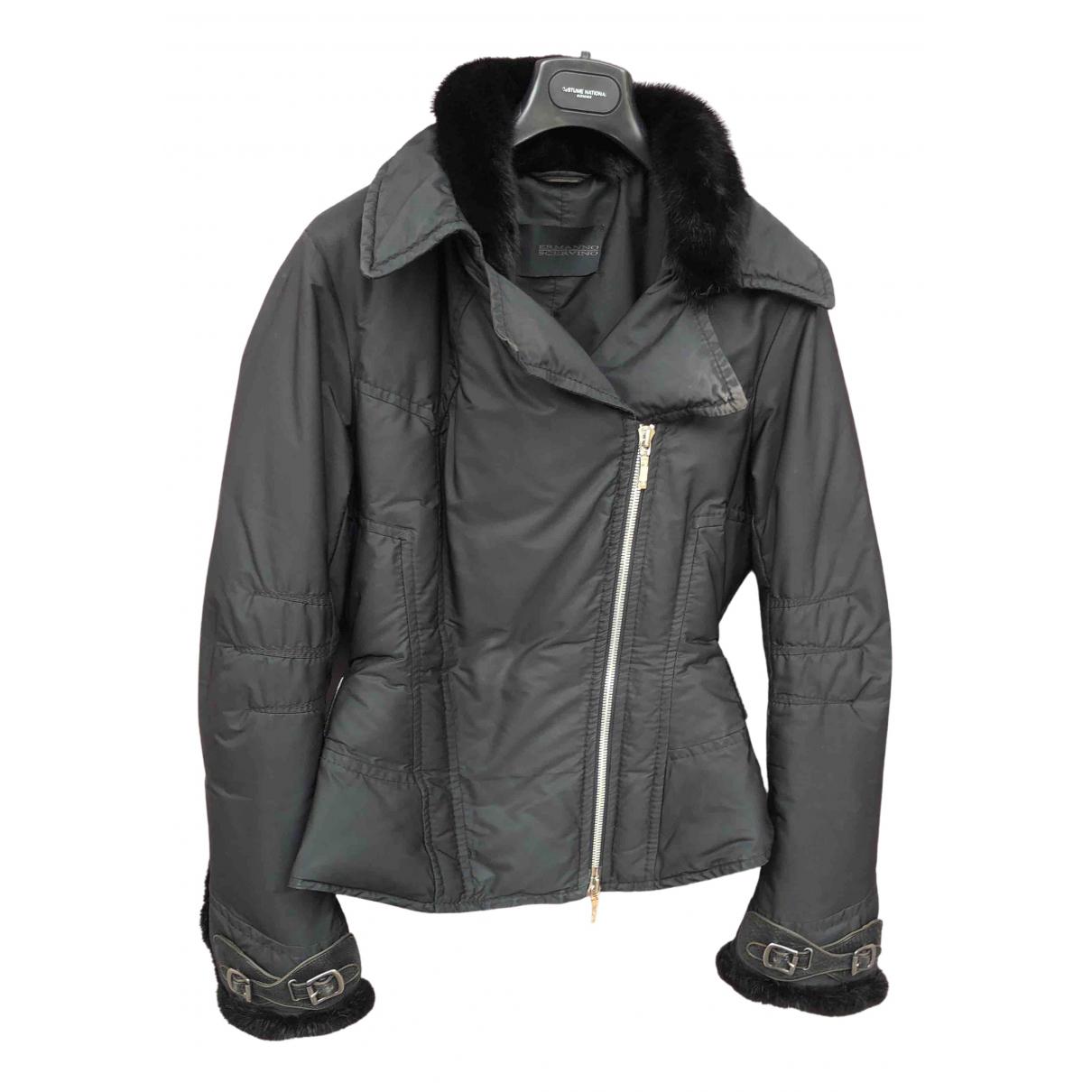 Ermanno Scervino - Manteau   pour femme - noir