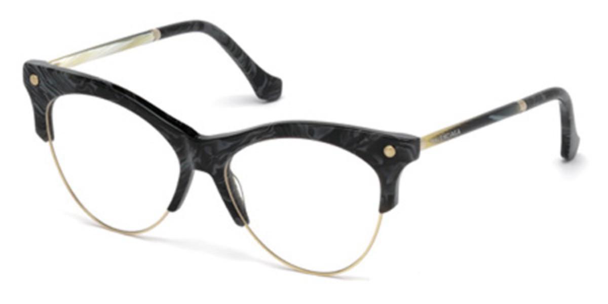 Balenciaga BA5053 063 Women's Glasses Black Size 53 - Free Lenses - HSA/FSA Insurance - Blue Light Block Available