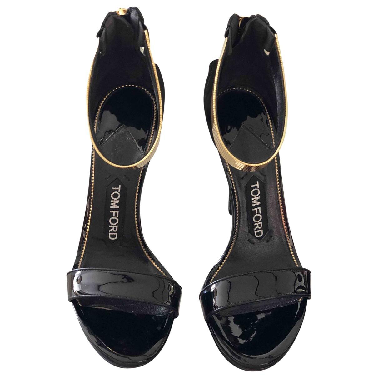 Tom Ford \N Sandalen in  Schwarz Lackleder