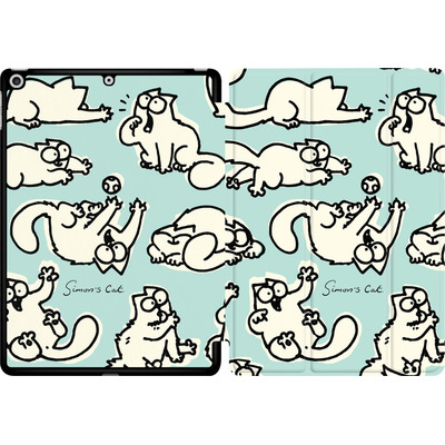 Apple iPad 9.7 (2018) Tablet Smart Case - Simon´s Cat Green Pattern von Simons Cat