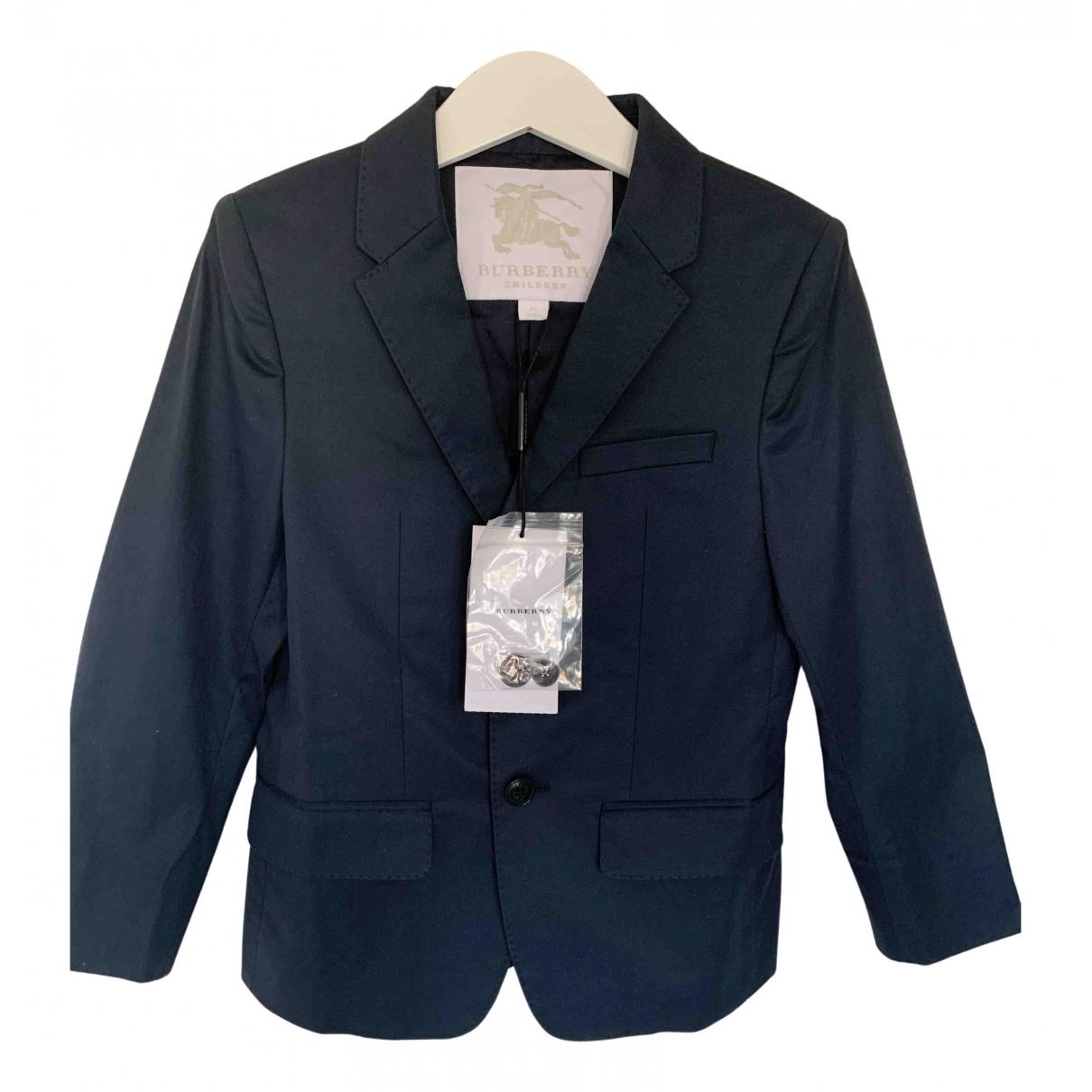 Burberry - Blousons.Manteaux   pour enfant en coton - marine