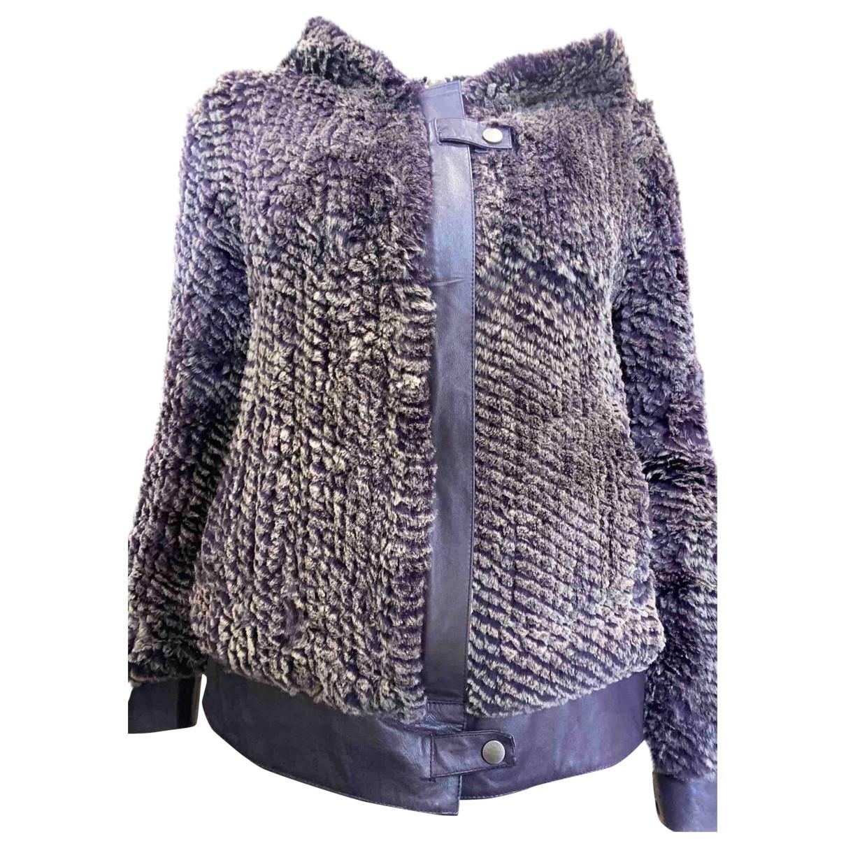 - Manteau Oversize pour femme en lapin - violet