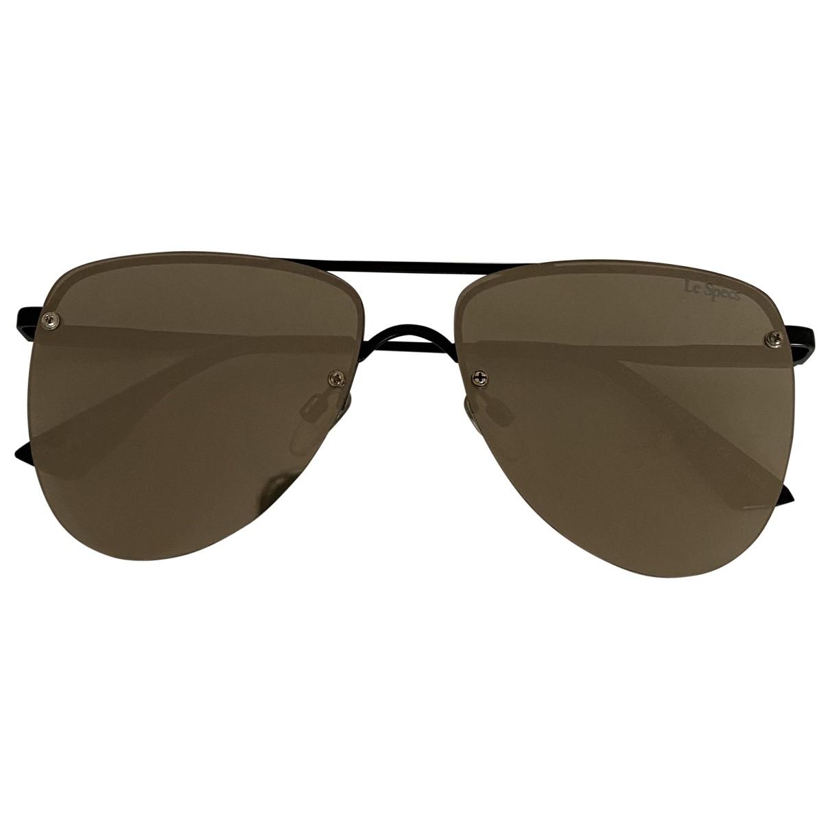 Le Specs \N Sonnenbrillen in  Metallic Metall