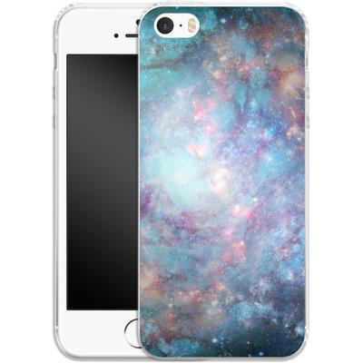 Apple iPhone 5s Silikon Handyhuelle - Abstract Galaxy - Blue von Barruf