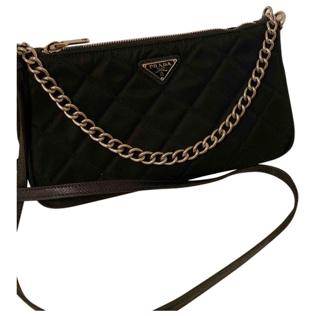 Prada Tessuto  Black Cloth Clutch bag for Women \N