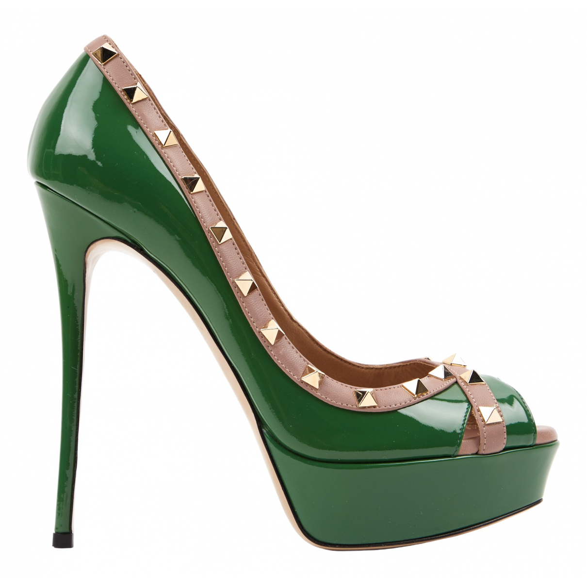 Valentino Garavani \N Green Patent leather Heels for Women 40 EU