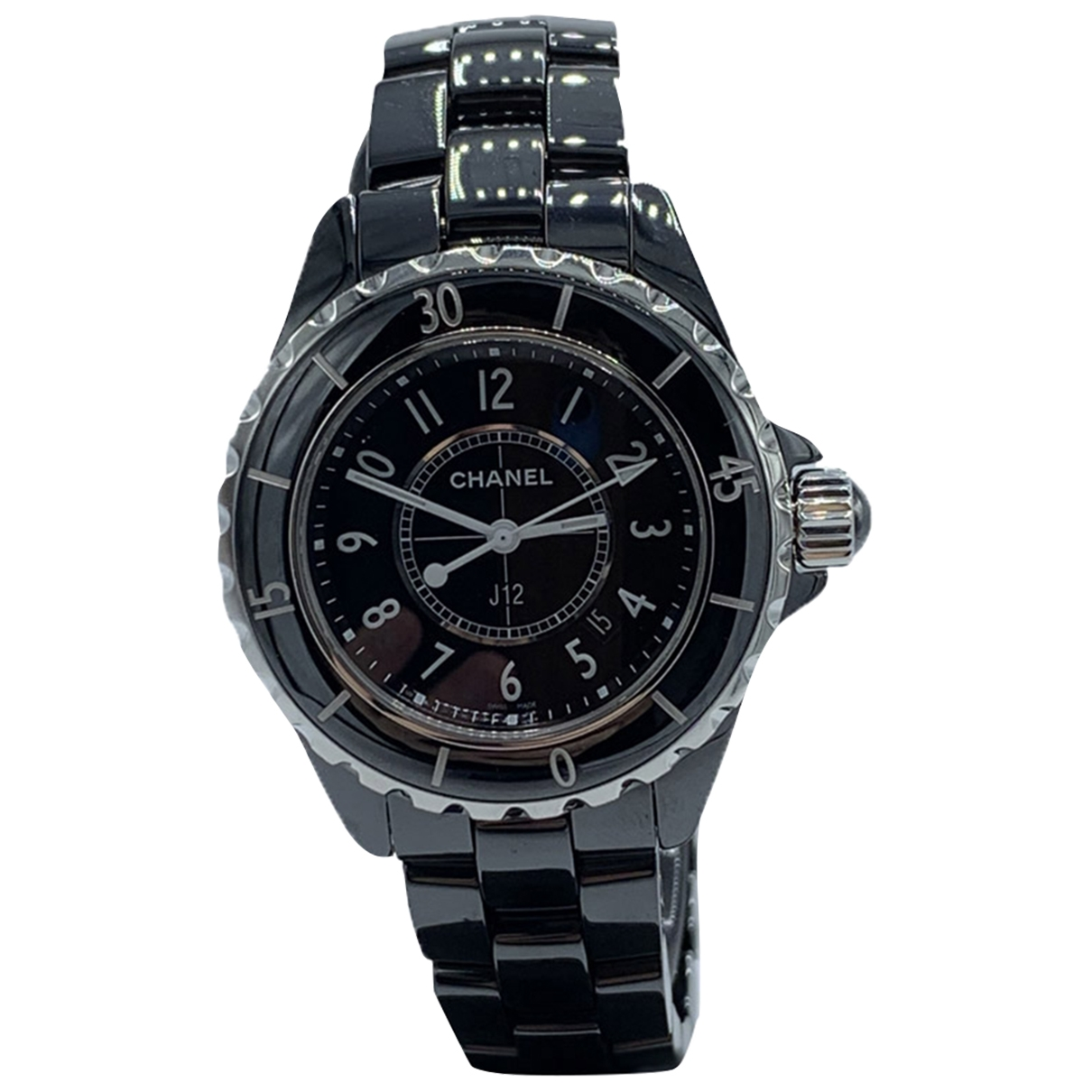Chanel J12 Quartz Uhr in  Schwarz Keramik