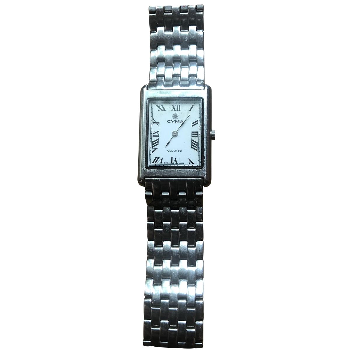 Cyma \N Uhr in  Grau Stahl