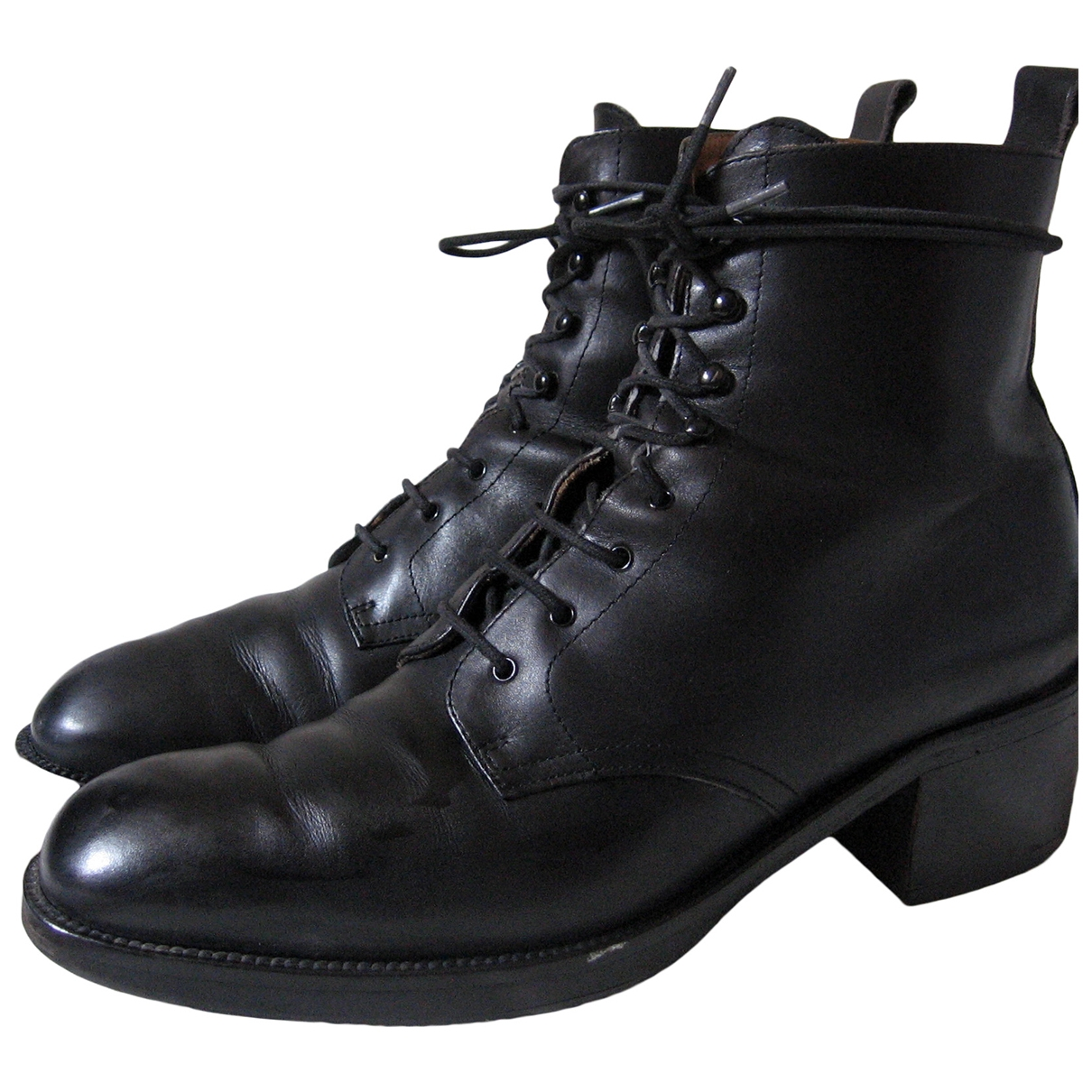 Free Lance \N Black Leather Ankle boots for Women 39 EU