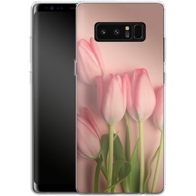 Samsung Galaxy Note 8 Silikon Handyhuelle - Pink Tulips von Joy StClaire