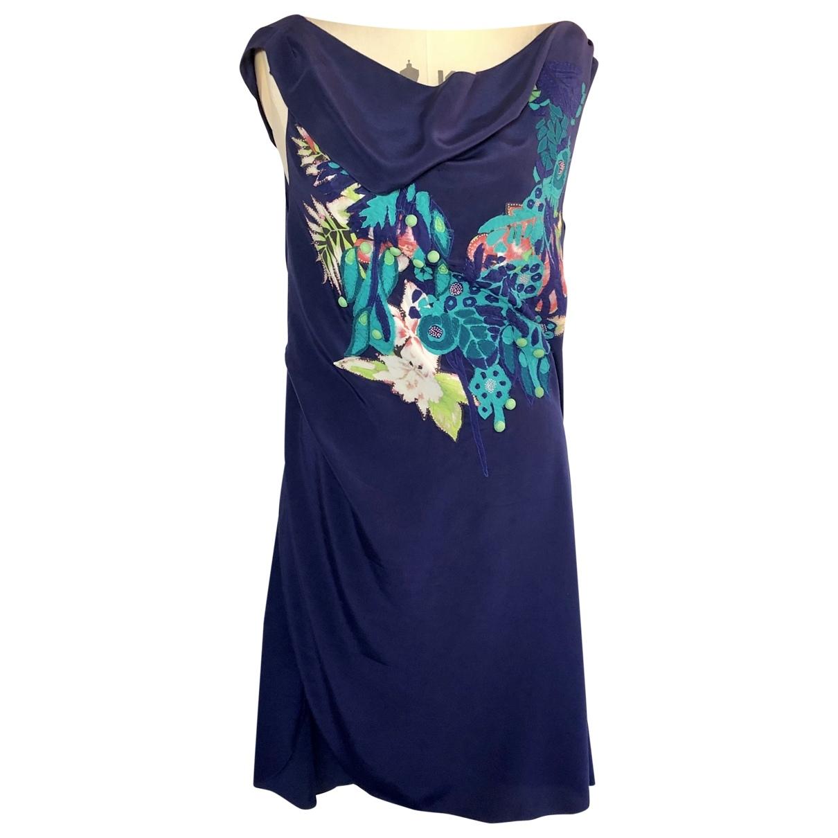 Vanessa Bruno \N Kleid in  Blau Seide