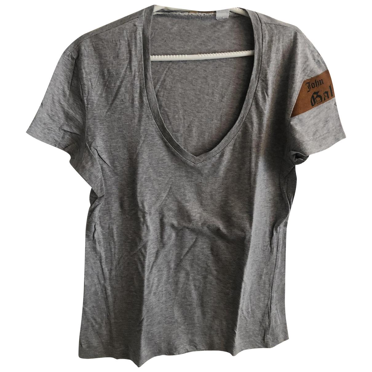 John Galliano - Tee shirts   pour homme en coton - gris