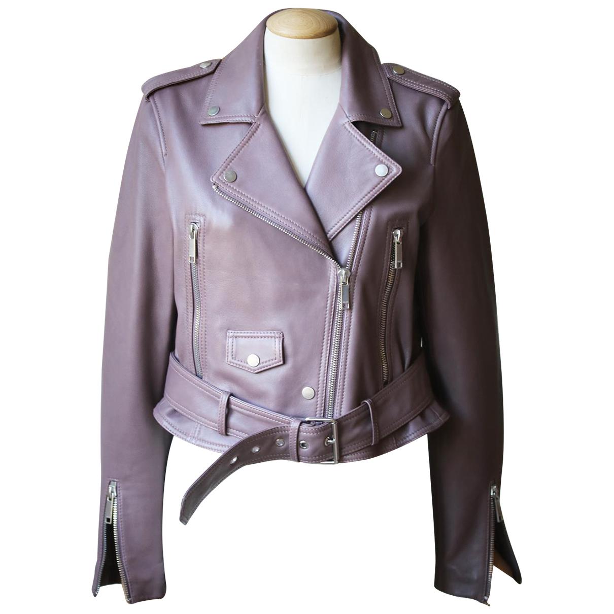 Autre Marque - Veste   pour femme en cuir - violet