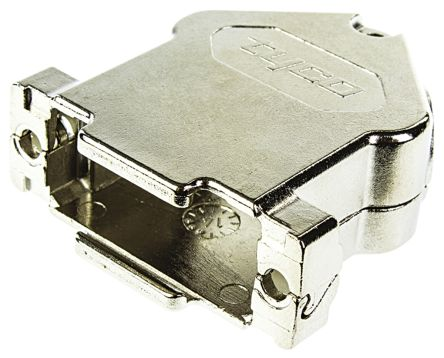 TE Connectivity , Amplimite HD-20 GD-Zn Angled D-sub Connector Backshell, 15 Way, Strain Relief