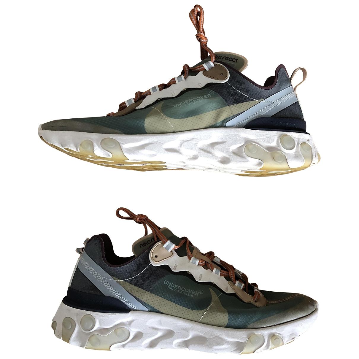 Nike X Undercover - Baskets React element 87 pour homme en toile - vert