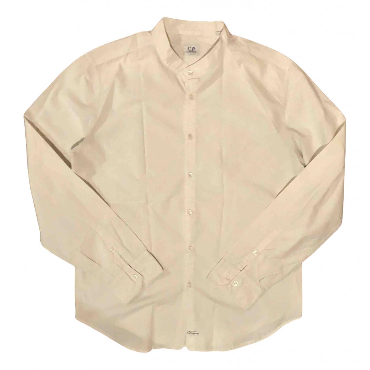 Cp Company - Chemises   pour homme en coton - blanc