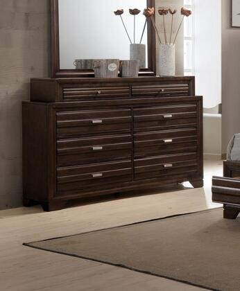 Oliver Collection OL6230-DR Dresser with English Dovetail Drawers and Kenlin Metal Glides in Antique Walnut