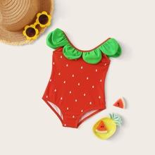 Baby-Erdbeermuster-Badebekleidung