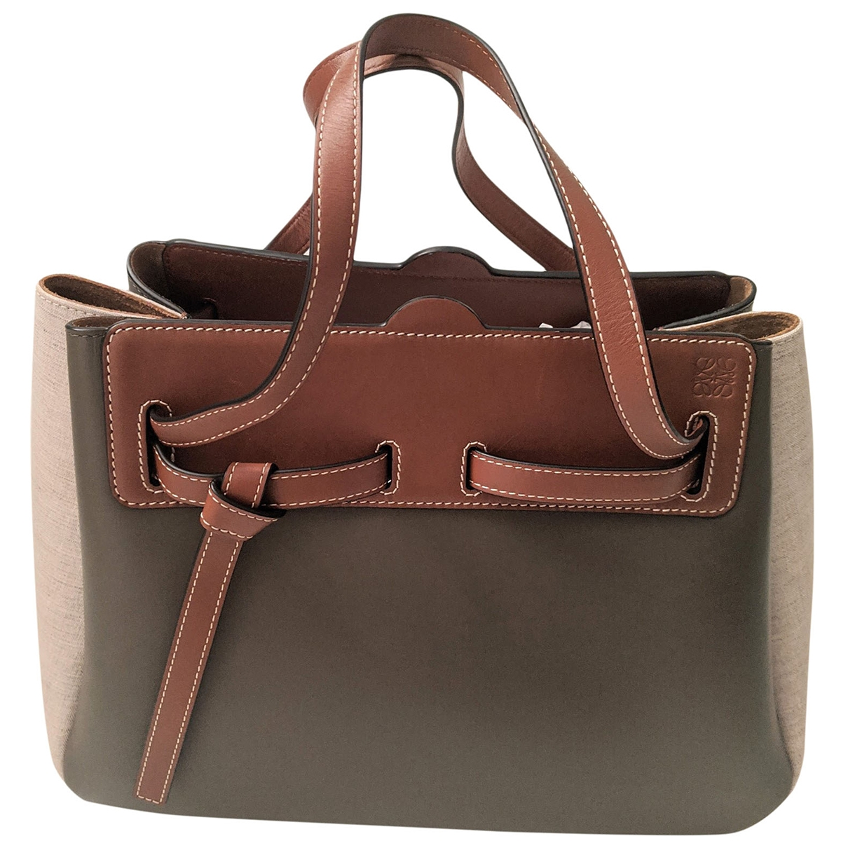Loewe Lazo Handtasche in  Khaki Leder