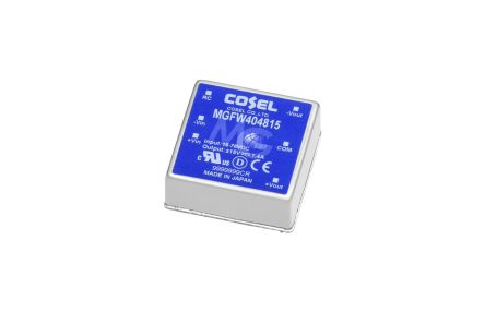 Cosel MGFW40 31.2W Isolated DC-DC Converter PCB Mount, Voltage in 4.5 → 13 V dc, Voltage out ±12V dc
