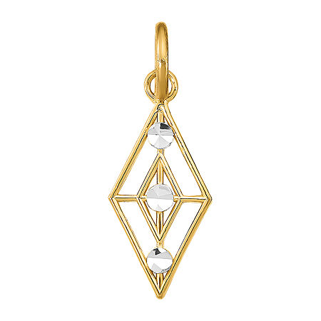 Womens 14K Gold Diamond Pendant, One Size , No Color Family