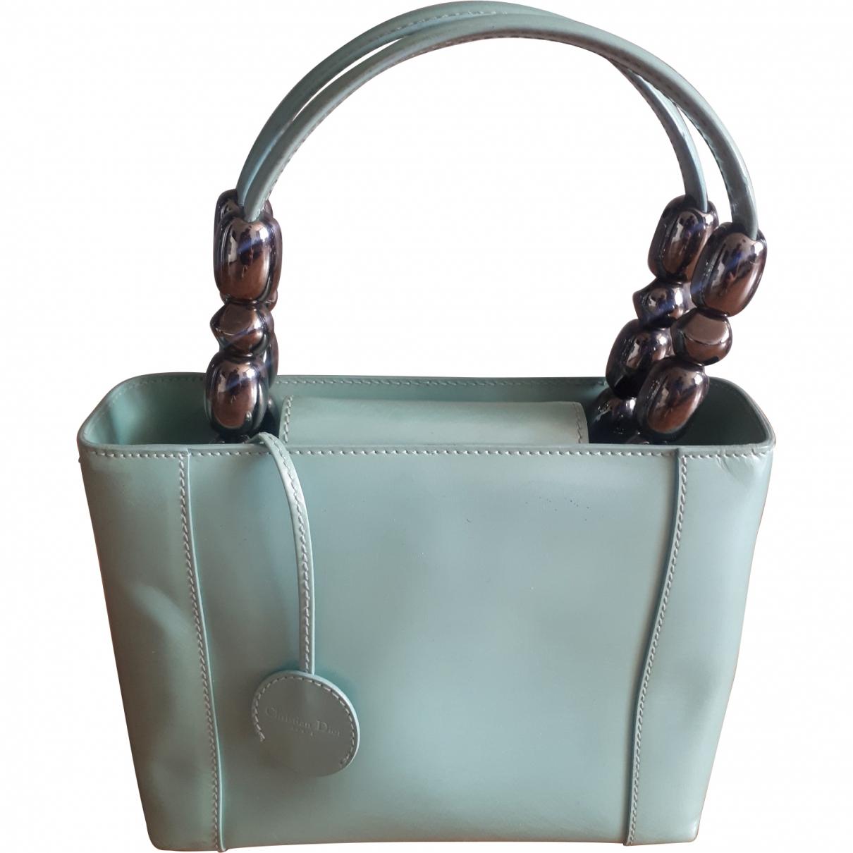 Dior \N Handtasche in  Tuerkis Leder