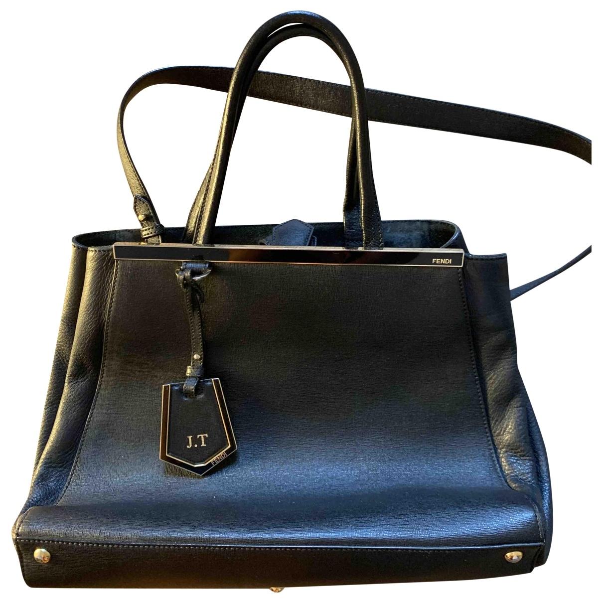 Fendi 2Jours Navy Leather handbag for Women \N