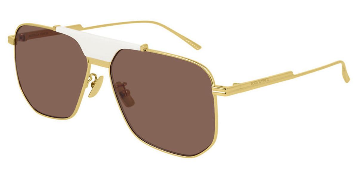 Bottega Veneta BV1036S 006 Men's Sunglasses Gold Size 60