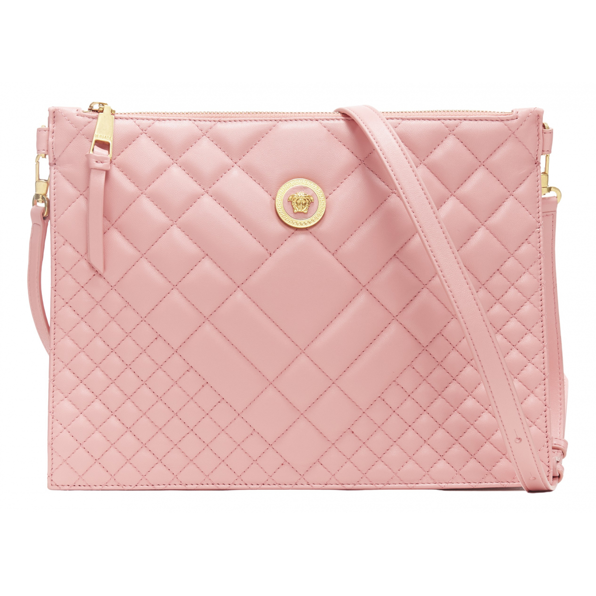 Versace \N Clutch in  Rosa Leder