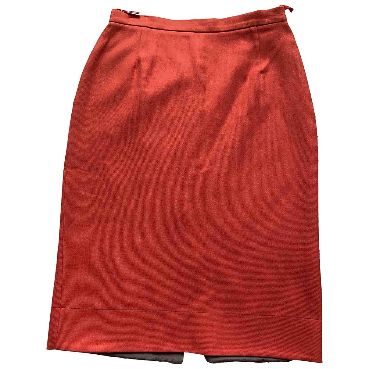 Prada \N Red Cotton skirt for Women 44 IT