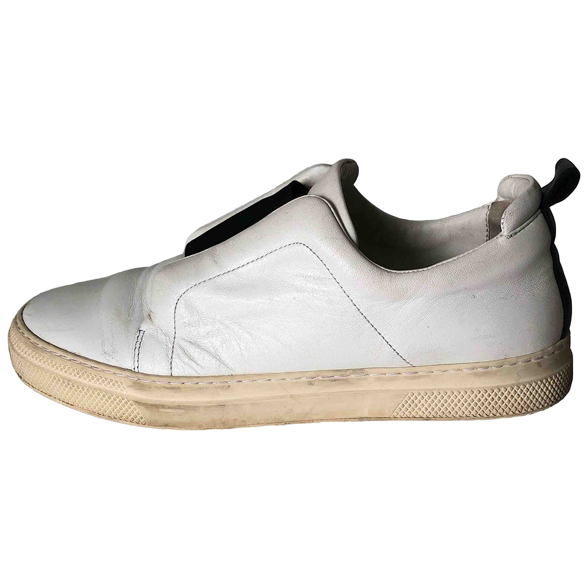 Pierre Hardy \N White Leather Trainers for Women 39 EU