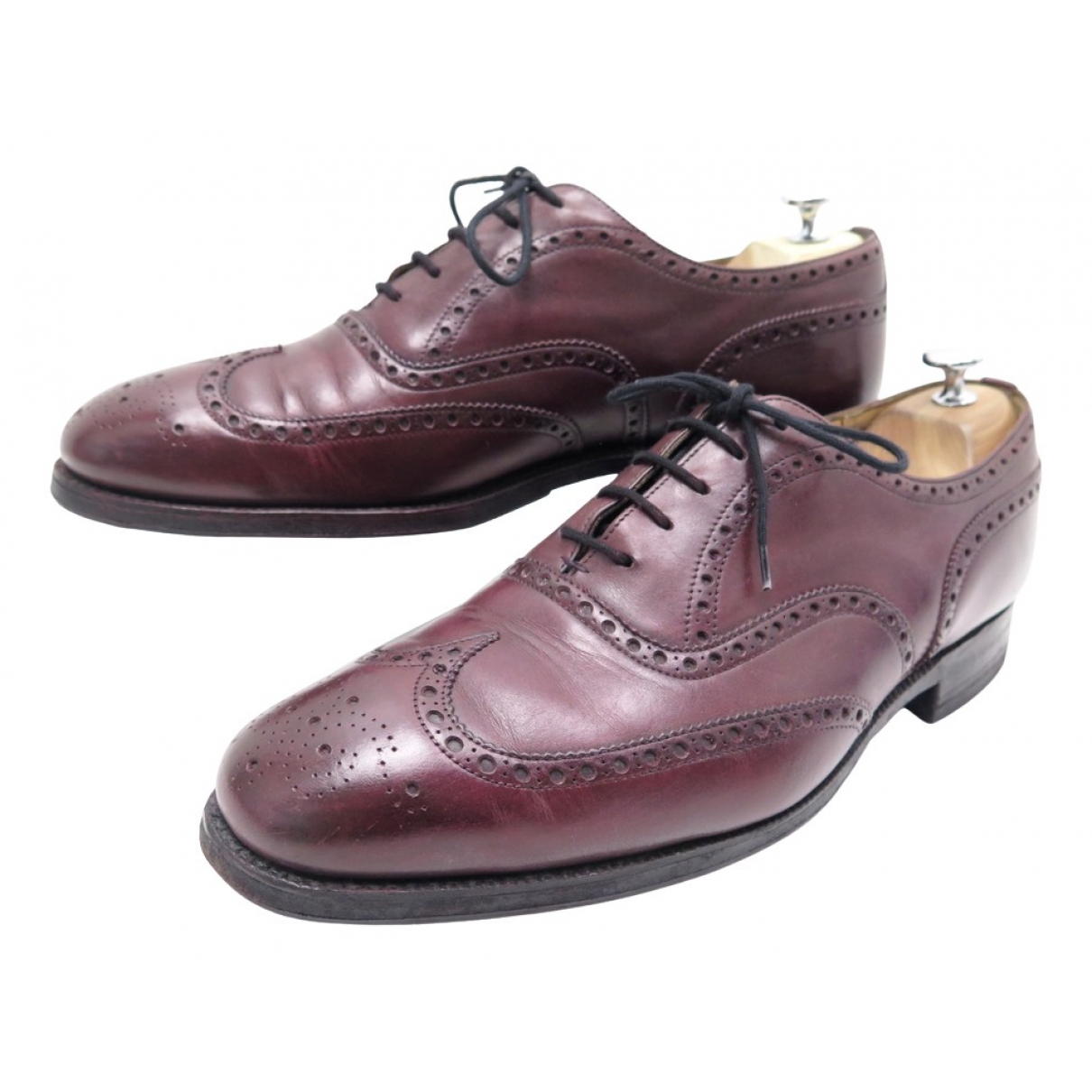 Church's N Burgundy Leather Lace ups for Men 44 EU