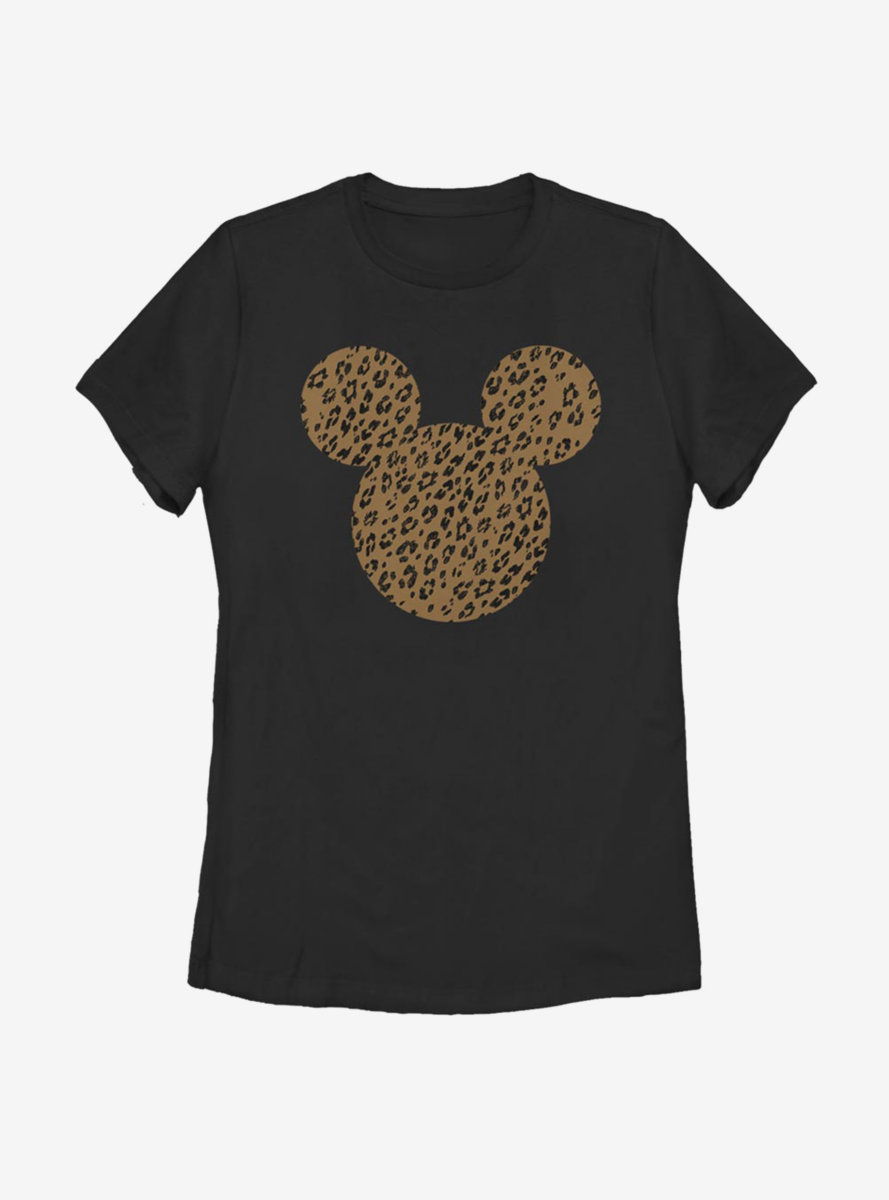 Disney Mickey Mouse Cheetah Mouse Womens T-Shirt