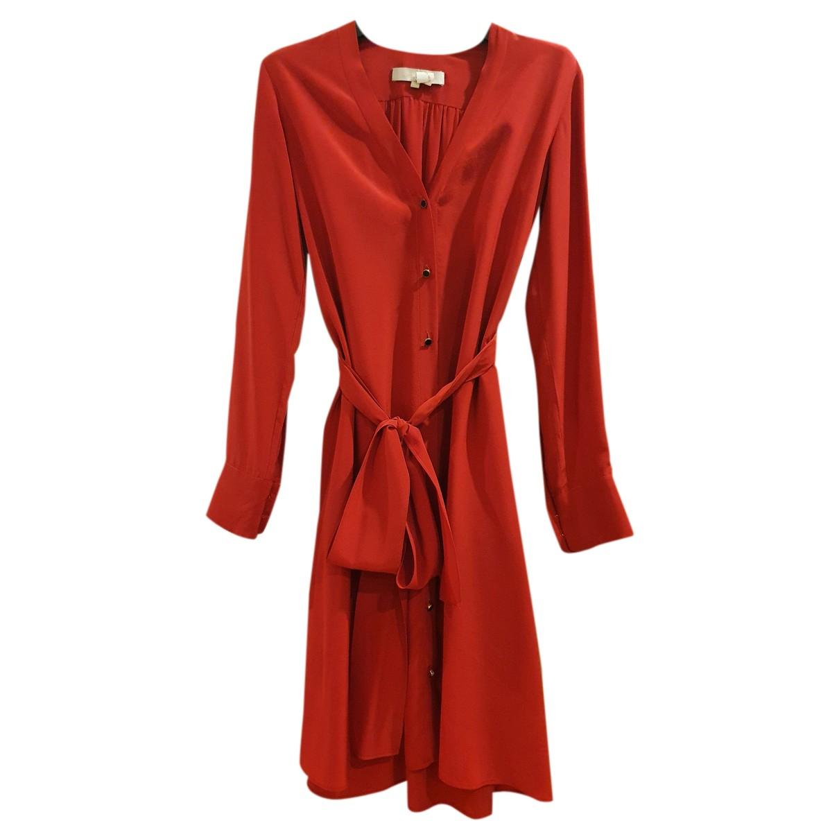 Vanessa Bruno - Robe   pour femme en soie - rouge