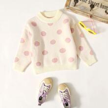 Pullover mit Punkten Muster und Stehkragen