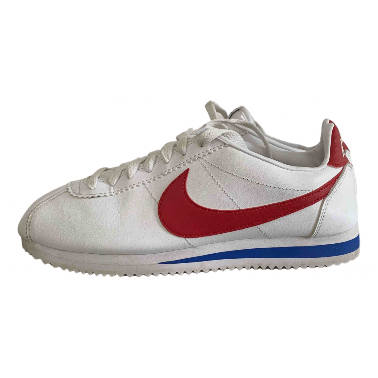 Nike Cortez White Leather Trainers for Women 5 UK