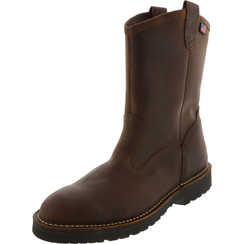 Danner Men's Bull Run Wellington Brown Mid-Calf Leather Industrial & Construction Boot - 14M