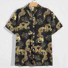 Hemd mit chinesischer Drache Muster