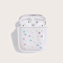 Flower Pattern Clear Airpods Case