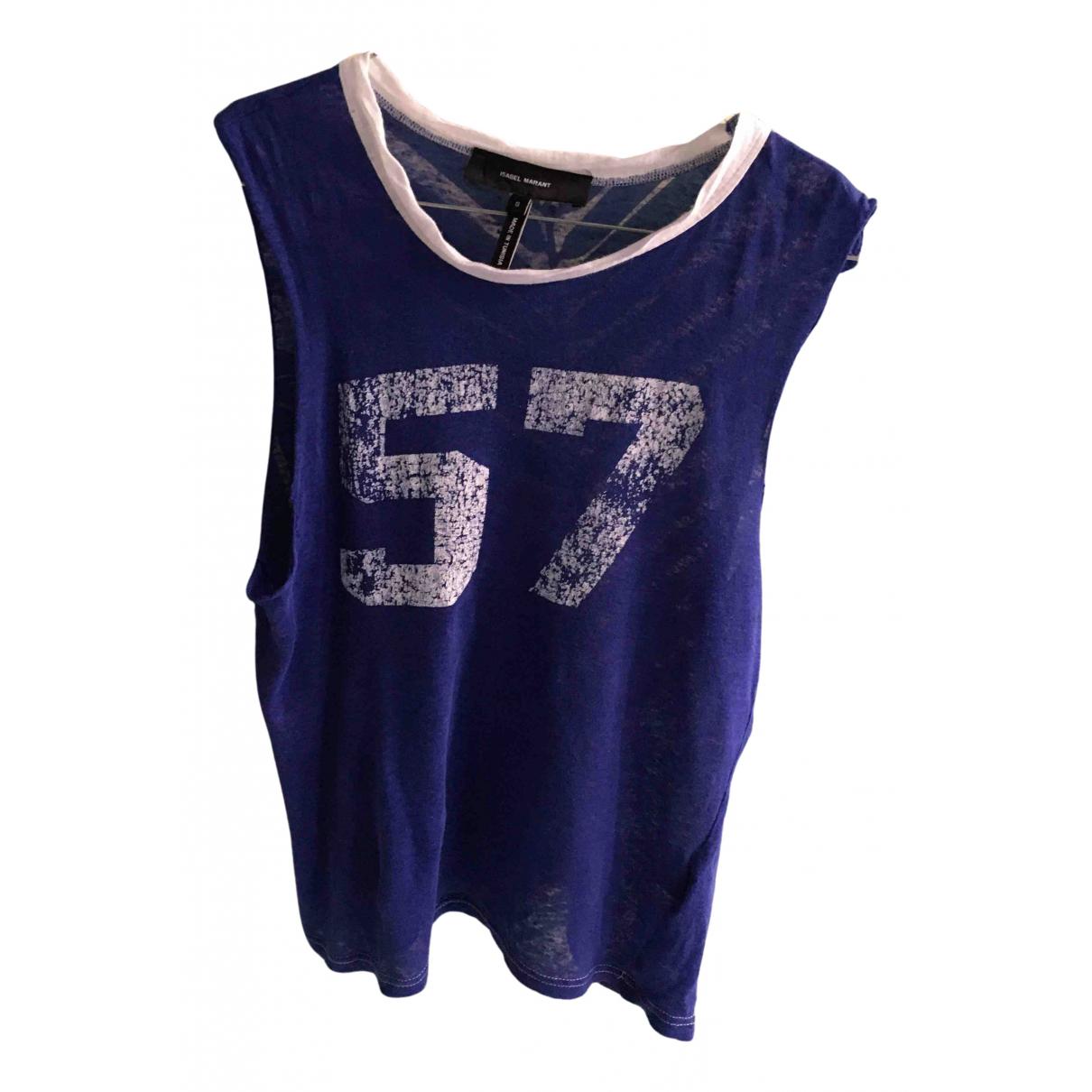 Isabel Marant N Blue Linen  top for Women 36 FR
