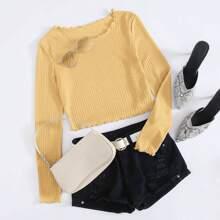 Camisetas Acaracolado Liso Casual