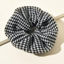 Houndstooth Pattern Scrunchie