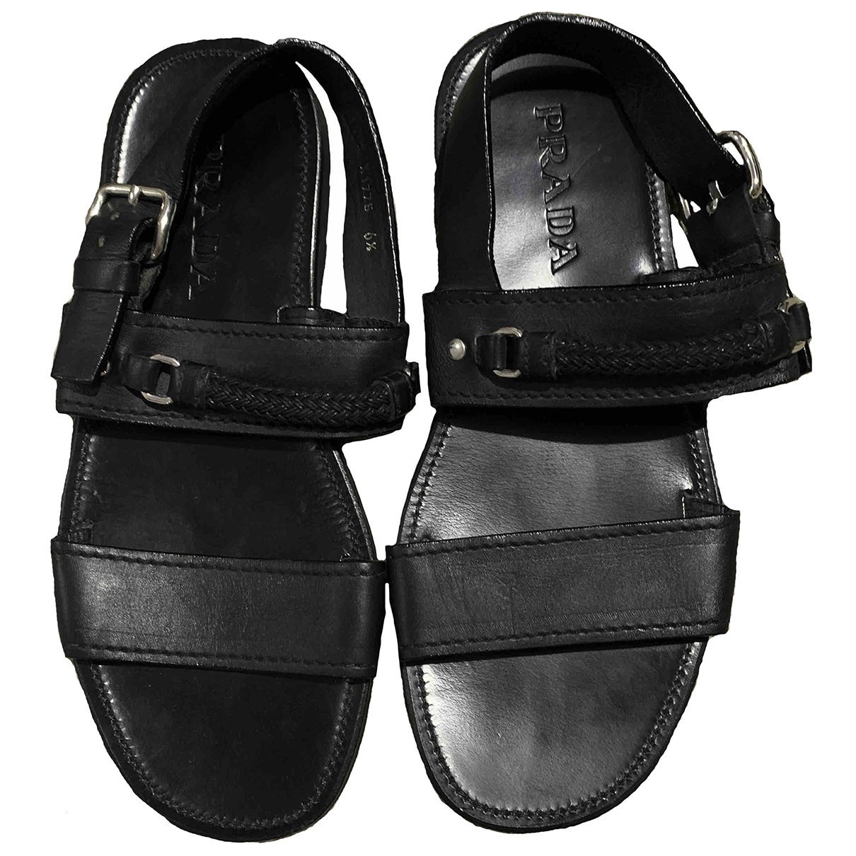 Prada \N Brown Leather Sandals for Women 6.5 UK
