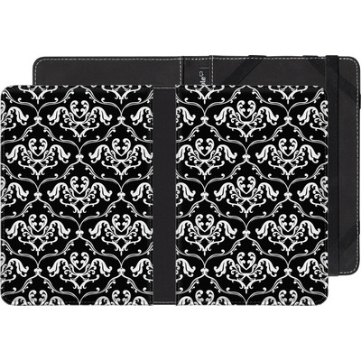 Amazon Kindle eBook Reader Huelle - Black French Lillies von caseable Designs