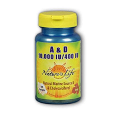 Vitamin A & D 100 softgels by Nature's Life
