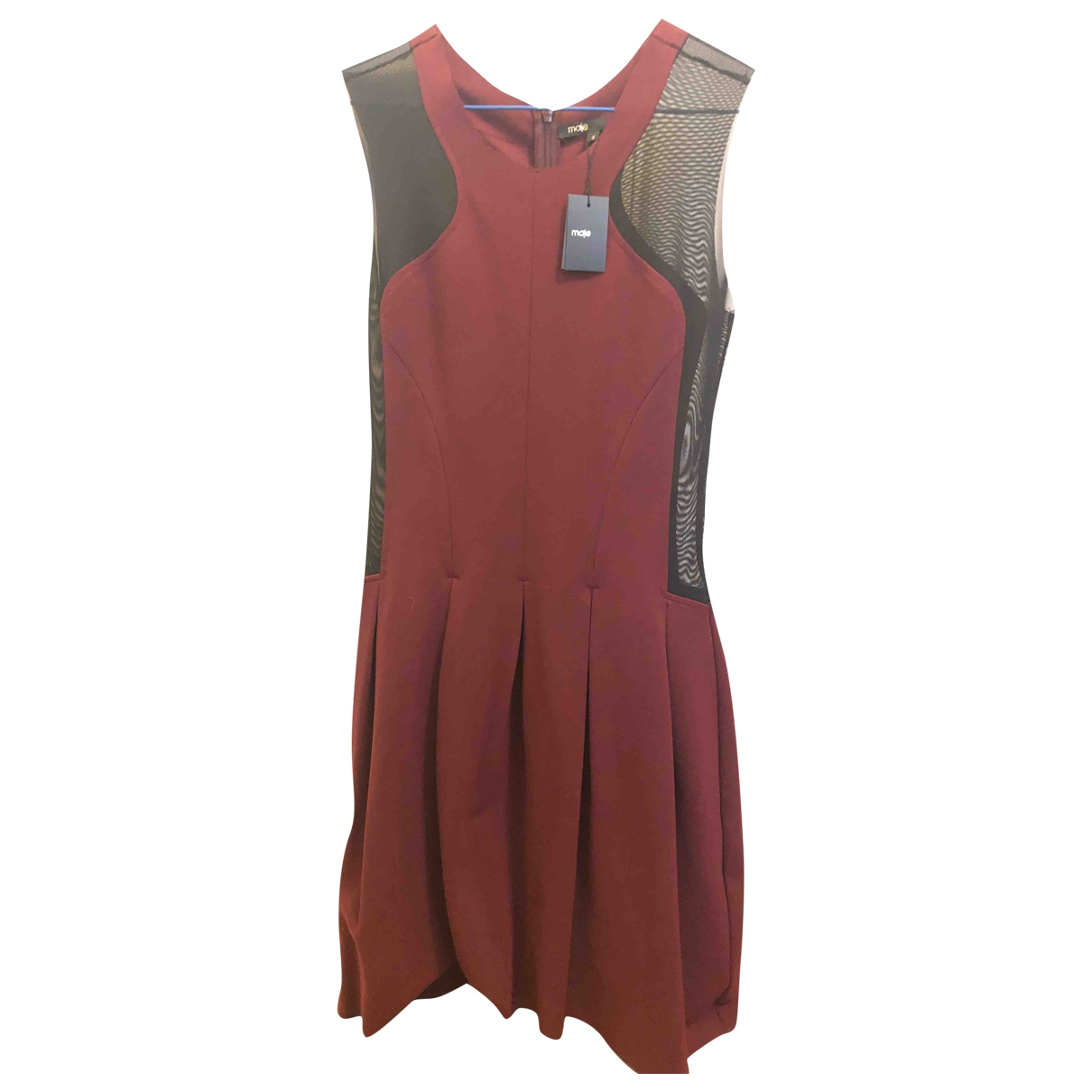 Maje \N Kleid in  Bordeauxrot Viskose