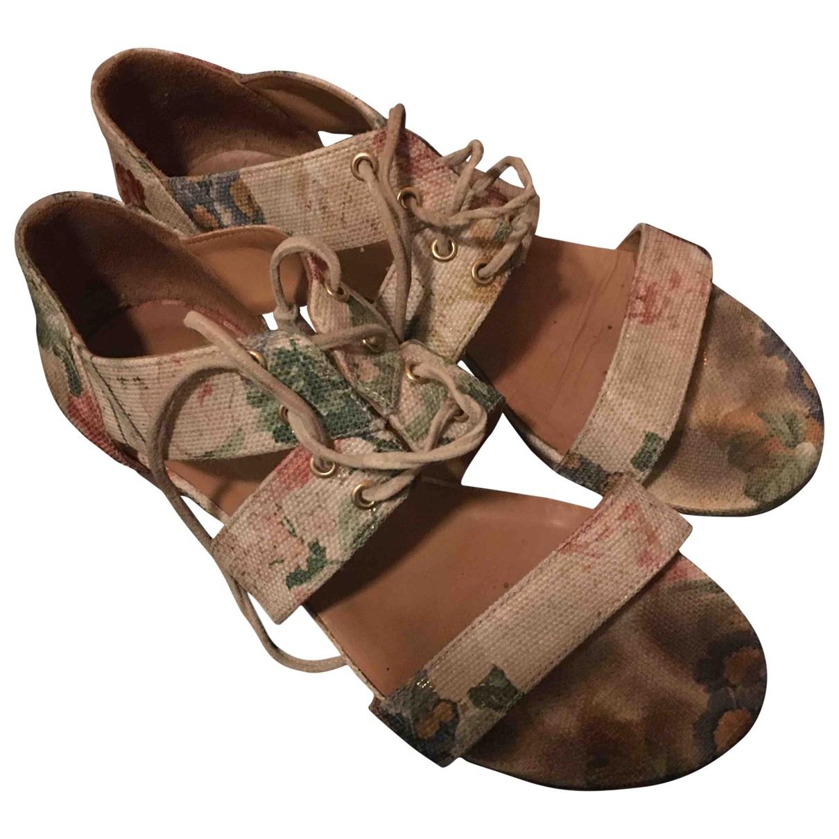 Sézane \N Multicolour Leather Sandals for Women 37 EU