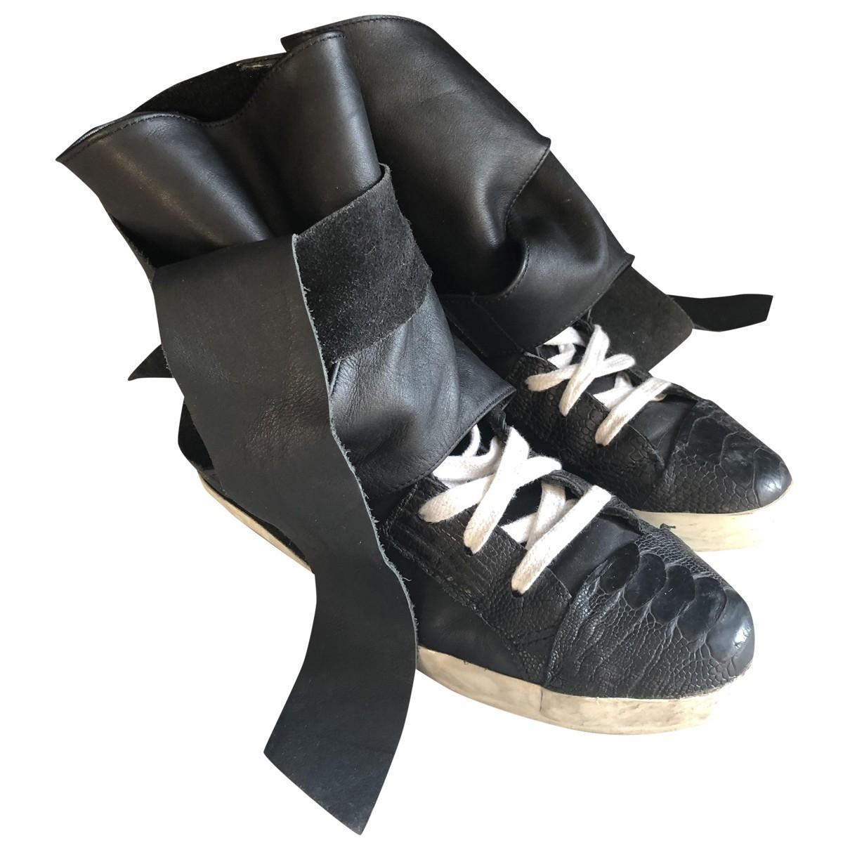 Cinzia Araia - Baskets   pour femme en cuir - noir
