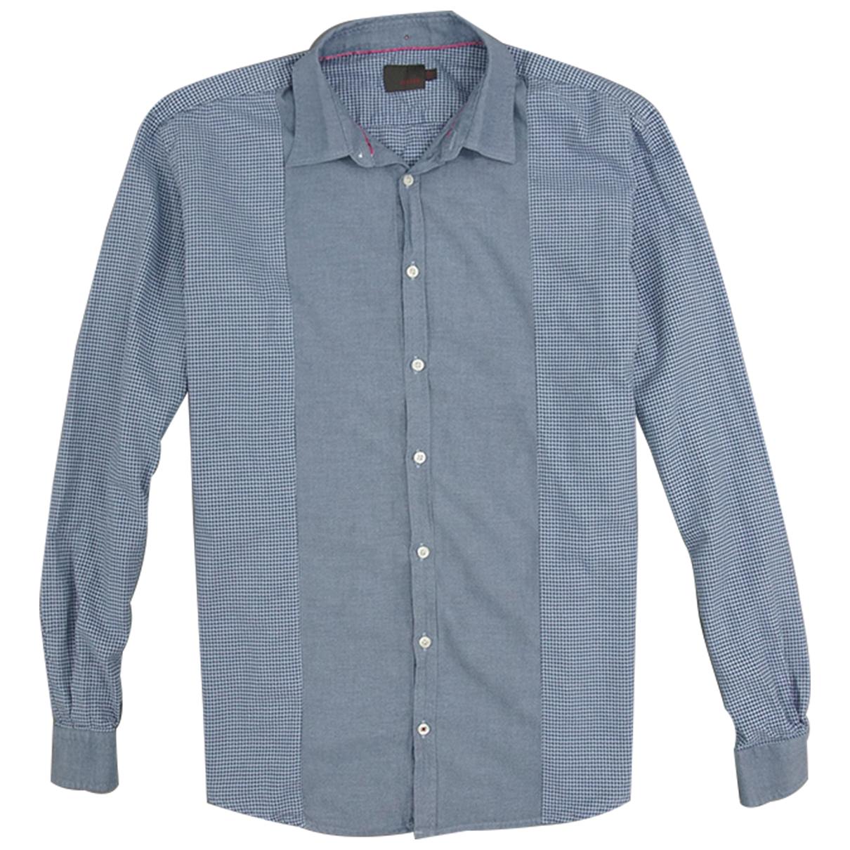 Louis Feraud \N Blue Cotton Shirts for Men 41 EU (tour de cou / collar)